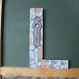 FINAL! Wood Letter L NEW Floral by Ashland…